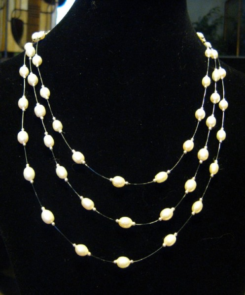 Classic Pearl Illusion Necklace Project