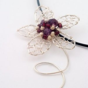 Purple Mood Wire Wrapped Pendant Jewelry Idea