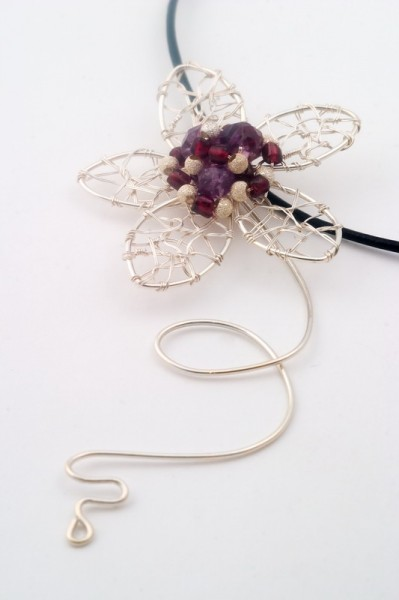 Purple Mood Wire Wrapped Pendant Project