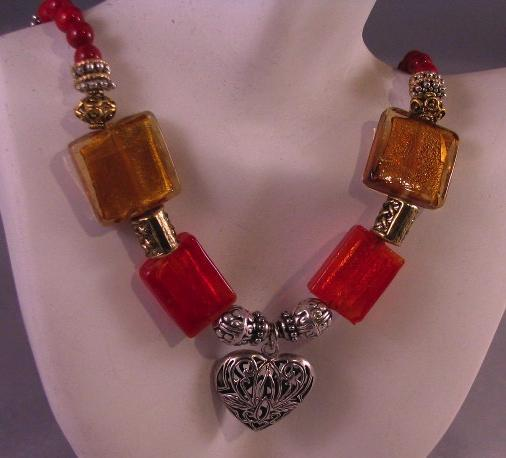Chunky Glass Necklace Project