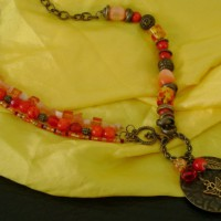 Burnt Orange Bronze Necklace Project