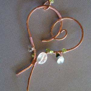 Wire Wrapped Heart Pendant Jewelry Idea