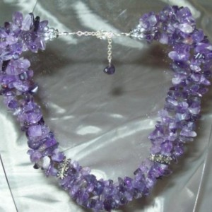 Amethyst Chip Three-Strand Necklace Project