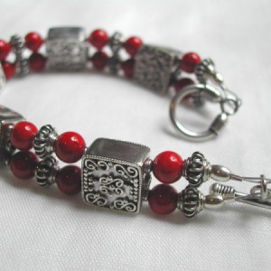 Red Double Dash Bracelet Project