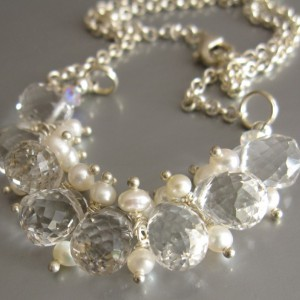 Faceted  Crystal And Pearls Necklace Project