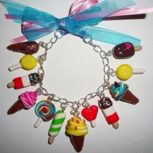 Icy Desserts Polymer Clay Bracelet Jewelry Idea