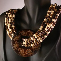 Boho Chic Wooden Multi Strand Layer Necklace Project