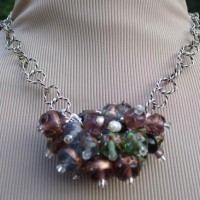 Fall Cluster Statement Necklace Project