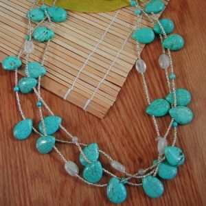 Turquoise Mist Necklace Project Idea