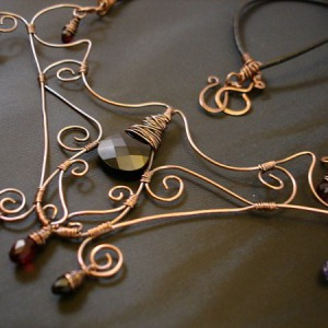 Adira Copper And Swarovski Wirework Necklace Jewelry Idea