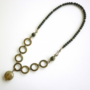 Brass Circles Necklace Jewelry Idea