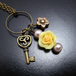 Buttercup Charm Necklace Jewelry Idea