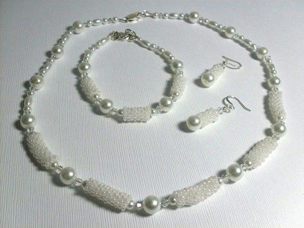 Glass Pearl Bridal Jewelry Set Project