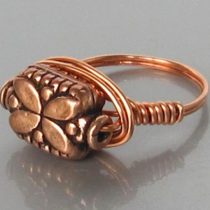 Copper Bead Ring Project