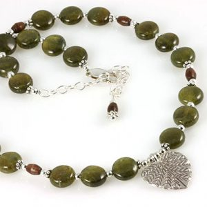 Fernwood Forest Heart Leaf Gemstone Necklace Project