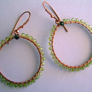 Halo Peridot Earrings Project
