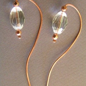 Sculptured Lantern Earrings With Rock Quartz Jewelry Idea