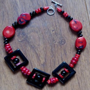 Black And Red Sixties Choker Project