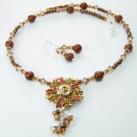 Crystal Floral Beaded Necklace Project