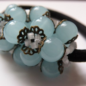 Vintage Hair Tie Jewelry Idea