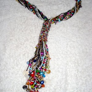 Stole Pattern Beaded Necklace Jewelry Idea