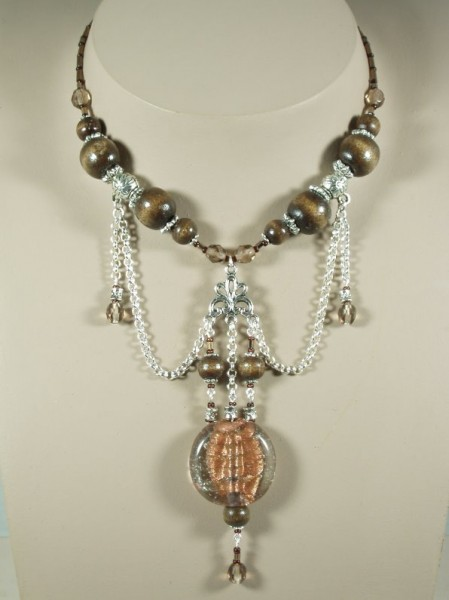 Copper, Wood & Bali Bead Ornate Pendant Project