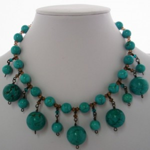 Antique Turquoise Collar Jewelry Idea