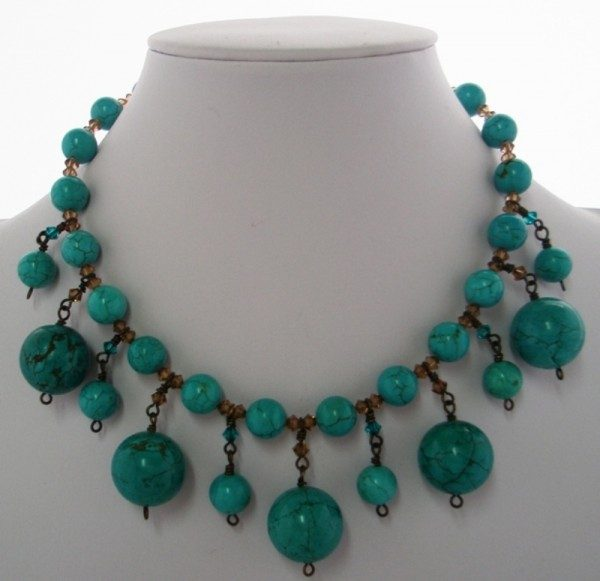 Antique Turquoise Collar Project