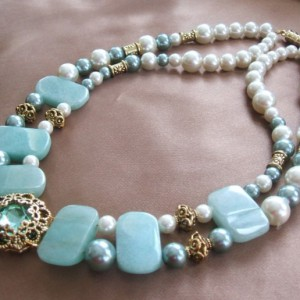 Jade And Pearl Necklace Jewelry Idea