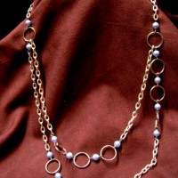 Pearls And Silver Rings Necklace Project