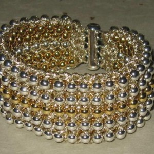 Two In One Seed Bead Knitted Cuff Jewelry Idea