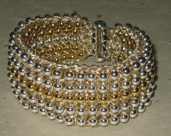 Two In One Seed Bead Knitted Cuff Project