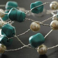 Twisted Wire Turquoise Bracelet