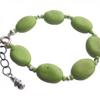 Acid Lime Stone Beaded Bracelet Project