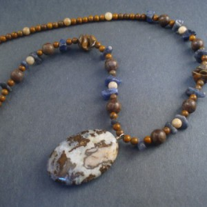 Brioche Agate And Jasper Necklace Jewelry Idea