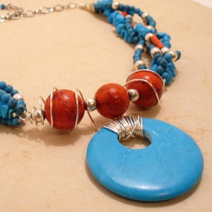 Turquoise And Coral Dream Jewelry Idea