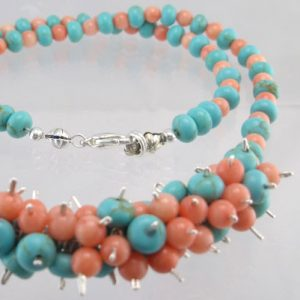 Coral Blues Necklace Jewelry Idea