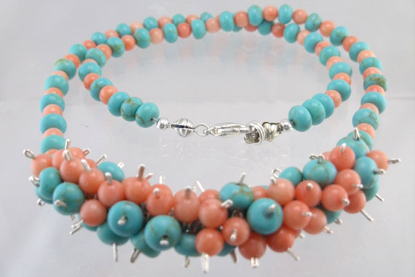 Coral Blues Necklace Project