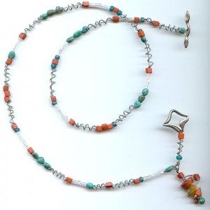 Terra Cotta & Turquoise Necklace Project Idea