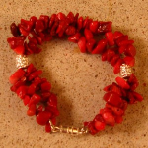 Red Coral Double Strand Bracelet Project
