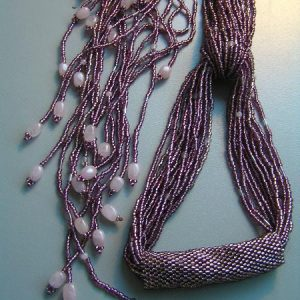 Seed Beads Scarf Necklace Project Idea