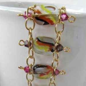Multi-coloured Tile Bracelet Project