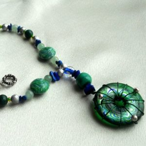 Oceans Of Malachite And Aventurine Necklace Project