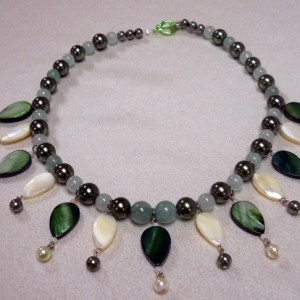 Leafy Green Necklace Featuring Aventurine Project