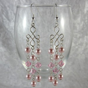 Simple Pink Wedding Earrings Jewelry Idea