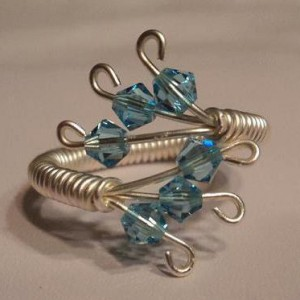 Wire Wrapped Swarovski Crystal Ring Jewelry Idea