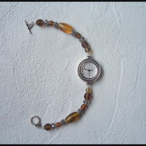 Shades of Amber – Watch Bracelet Project