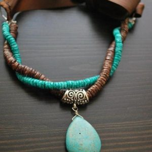 Turquoise Howlite Necklace Jewelry Idea