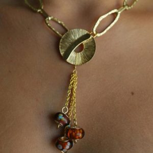 Matte Gold Necklace Jewelry Idea