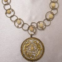 Asian Gold And White Necklace Project